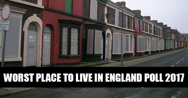 Worst place to live in England poll 2017